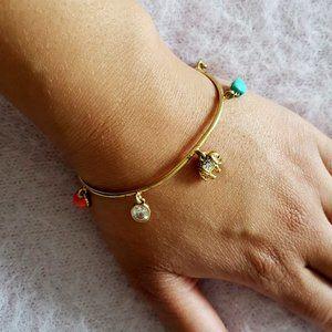 Juicy Couture Dainty Multi Charm Bangel Bracelet